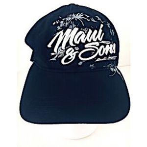 Maui and Sons Cap Snapback Hat Black